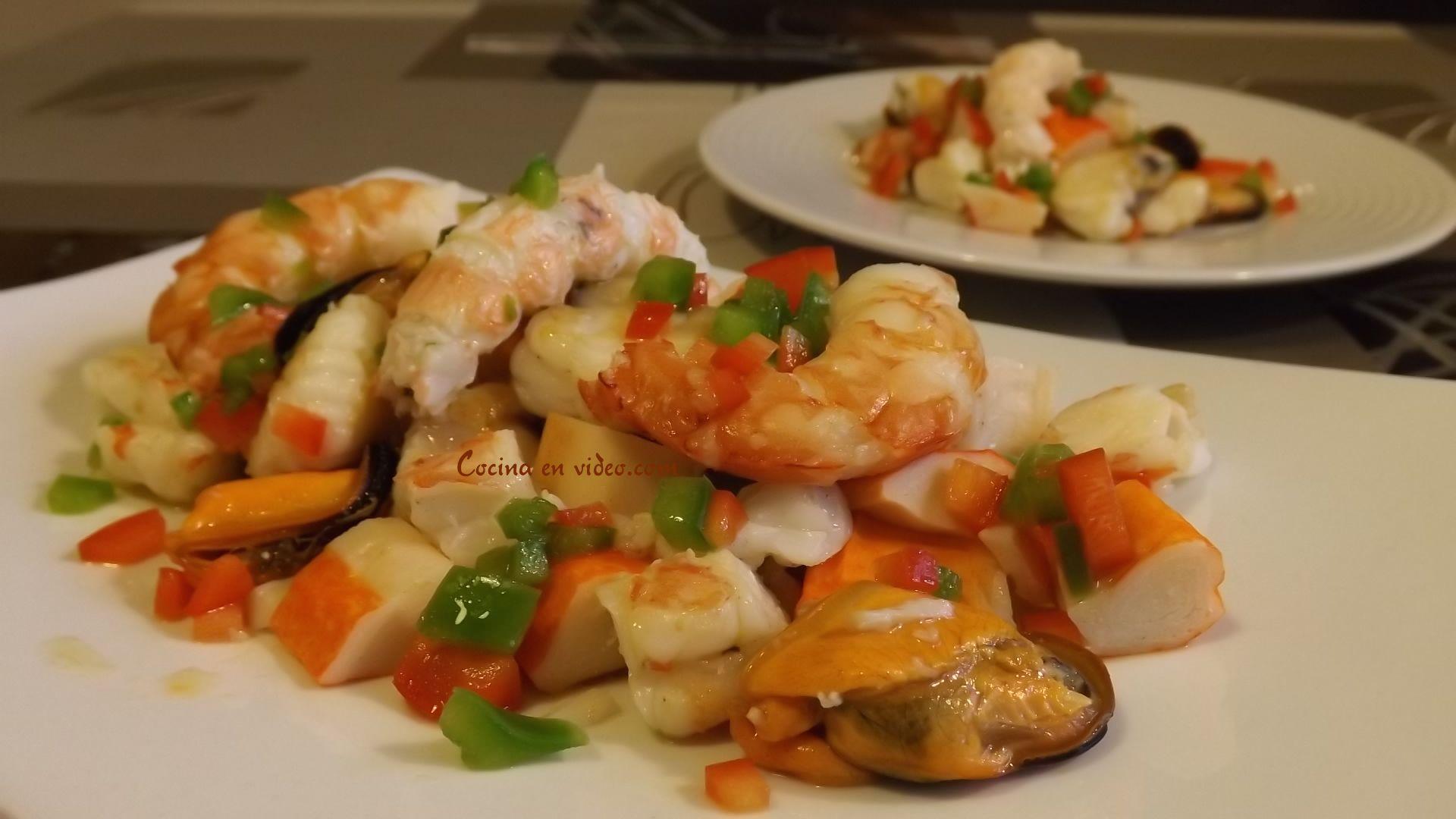 Salpicón de marisco (Ceviche)