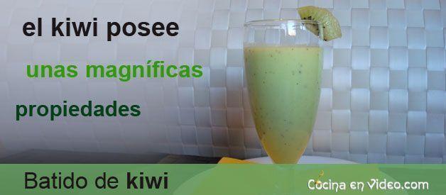 Batido de kiwi cocina en video - Batidos de kiwi ...