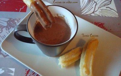 Chocolate con churros, fácil