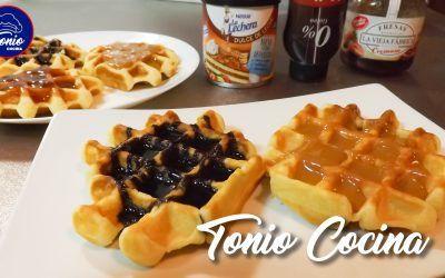 Gofres belgas caseros ( Waffles )