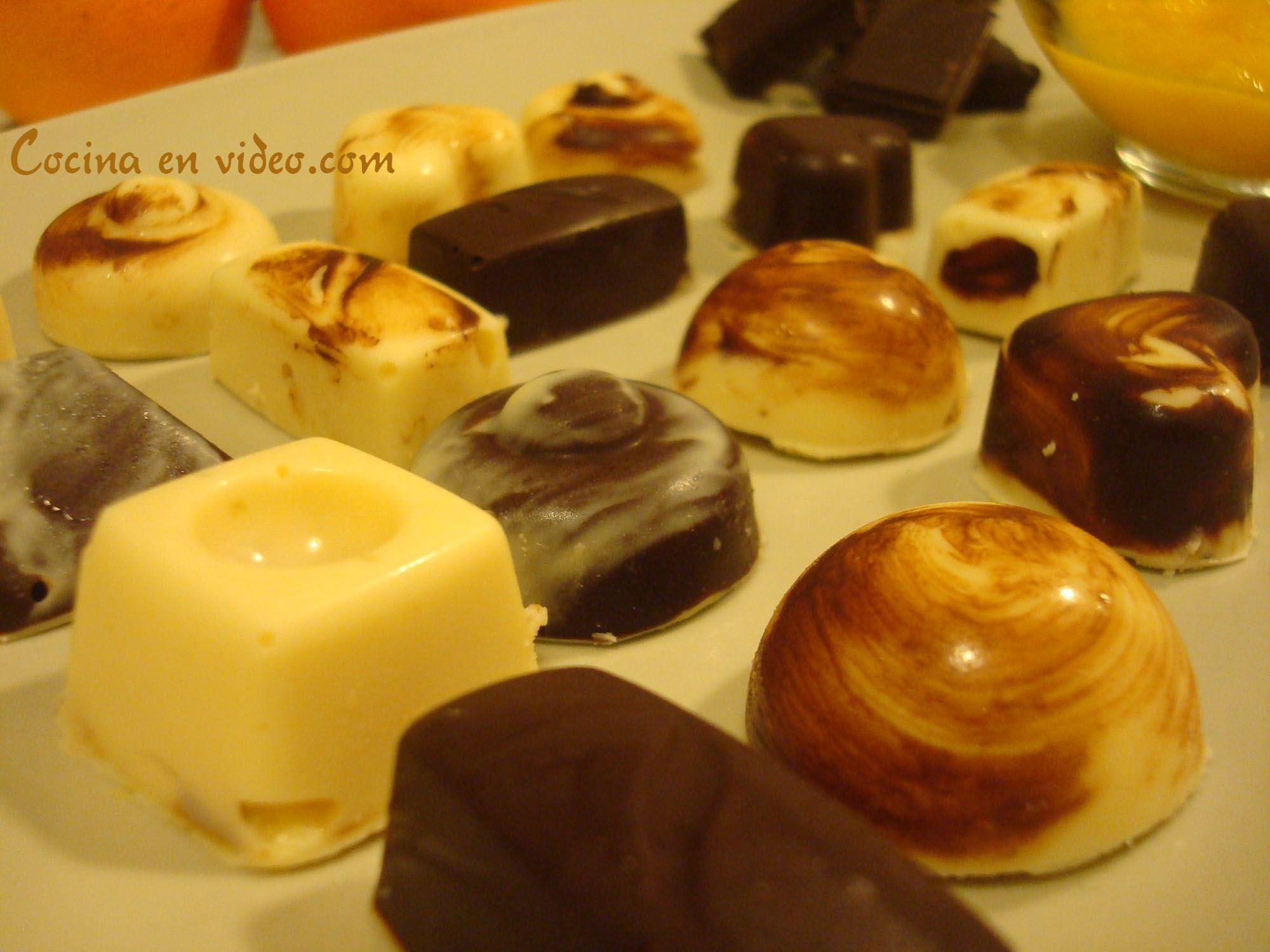 Crema Chocolate Relleno Bombones Rellenos de Crema de