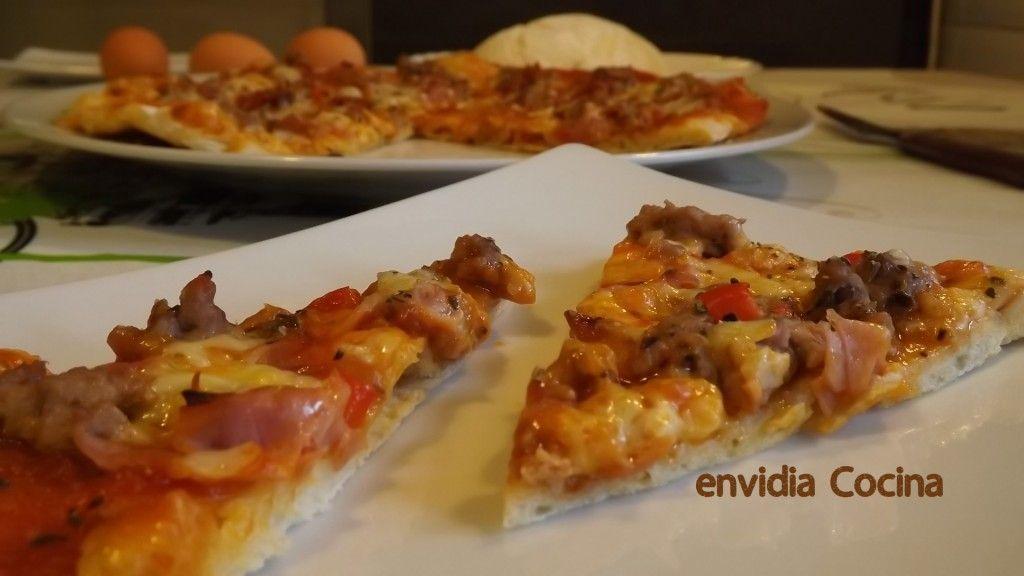 Pizza de carne a la salsa barbacoa