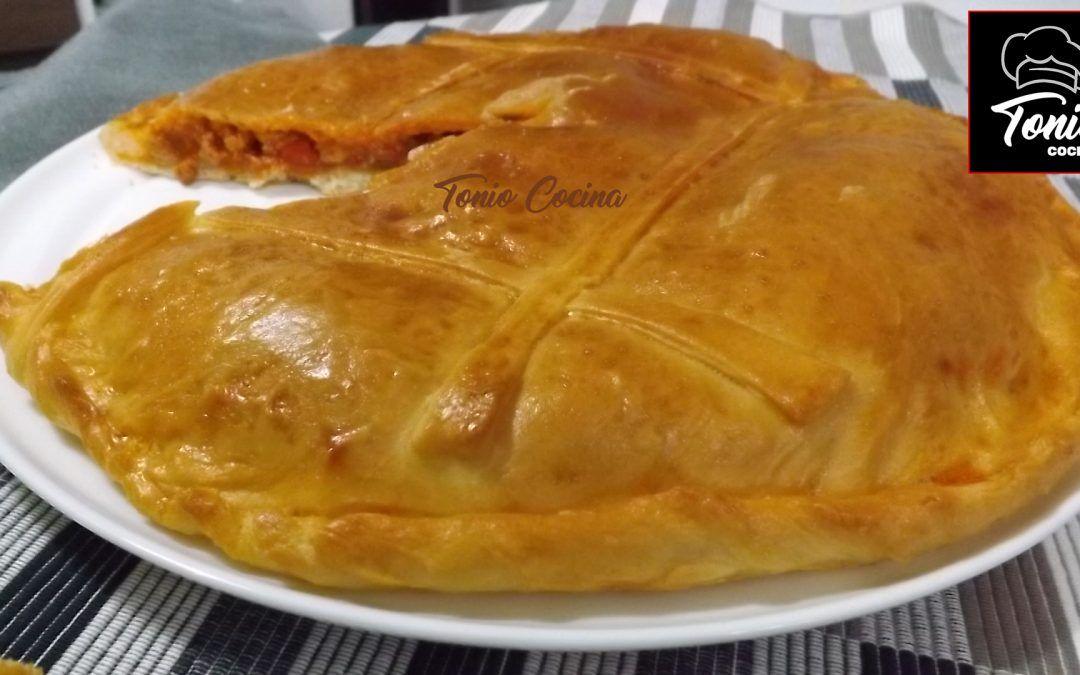 Empanada gallega de carne con masa casera