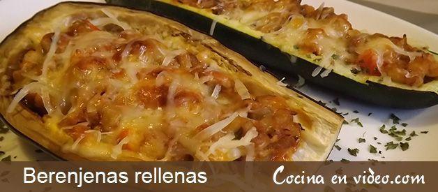 Berenjenas rellenas y calabac n cocina en video for Cocina berenjenas rellenas
