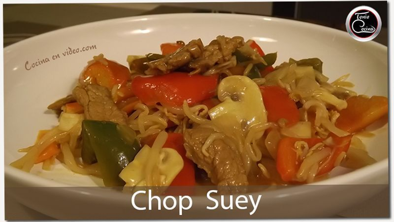 Chop Suey, receta de carne con salsa de naranja