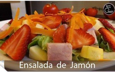 Ensalada de jamón | Salsa de mostaza