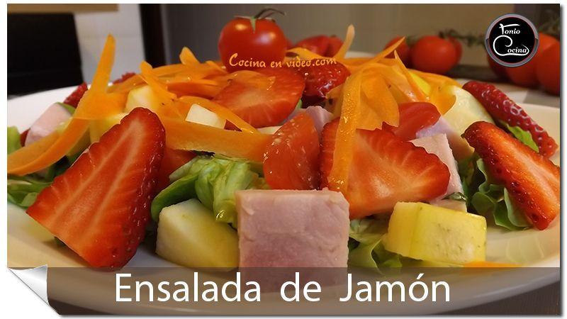 Ensalada de jamón   Salsa de mostaza