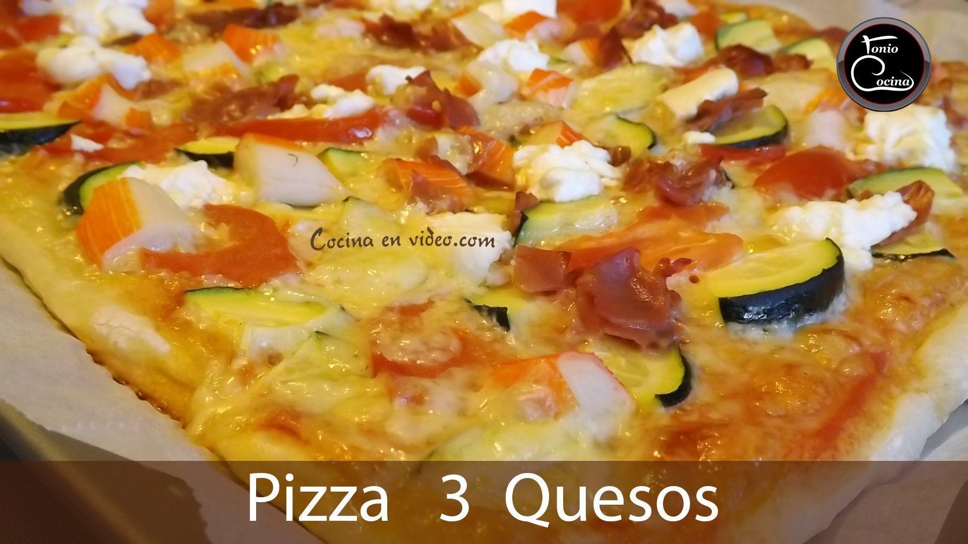 Pizza 3 quesos con masa casera for En 3 pizzas te olvido