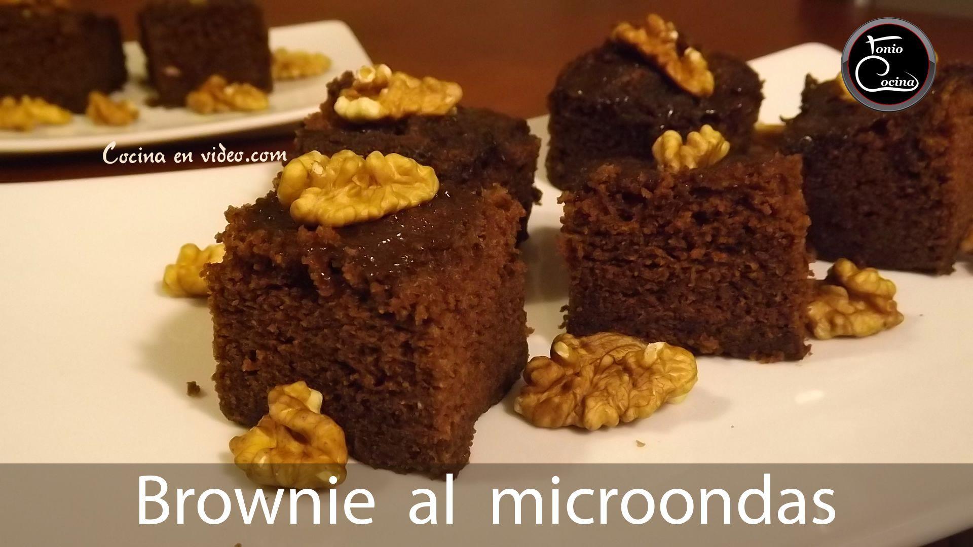 Brownie de chocolate en microondas cocina en video for Cocina al microondas