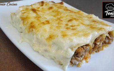 Canelones de carne | Salsa Bechamel