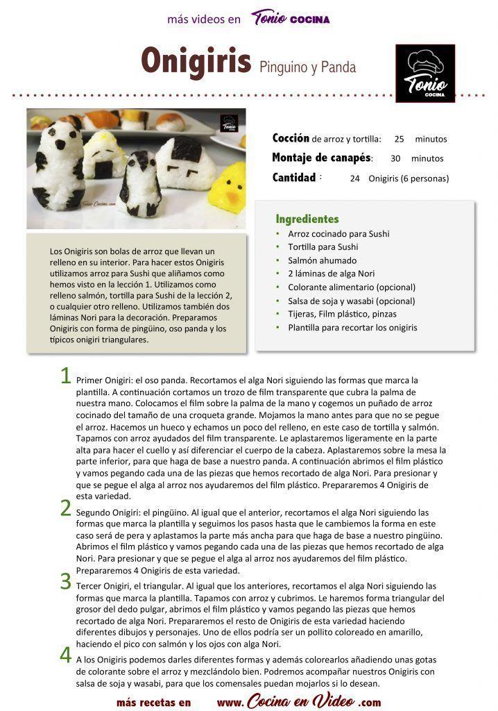Onigiris de Pinguino y Panda CEN Hoja1