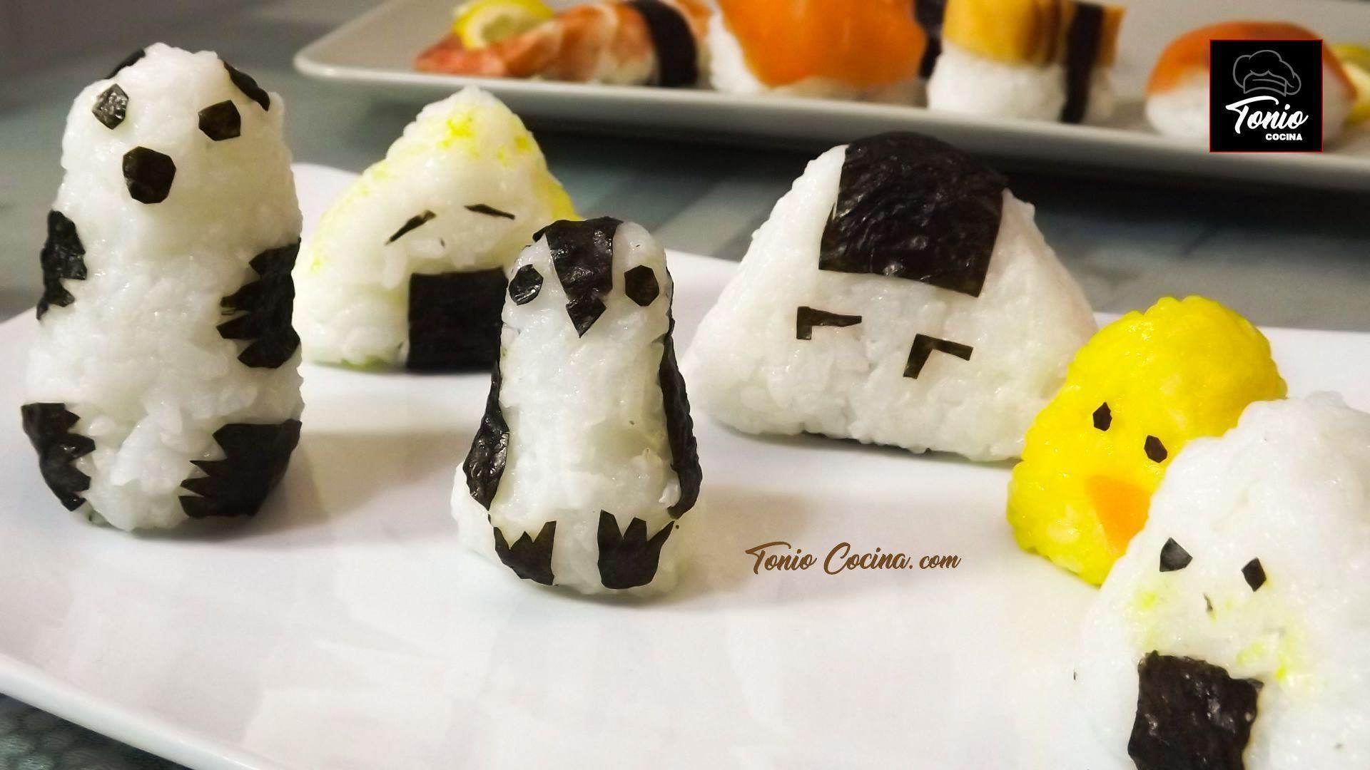 Onigiris de Pingüino y Panda | Curso de Sushi | Lección 5