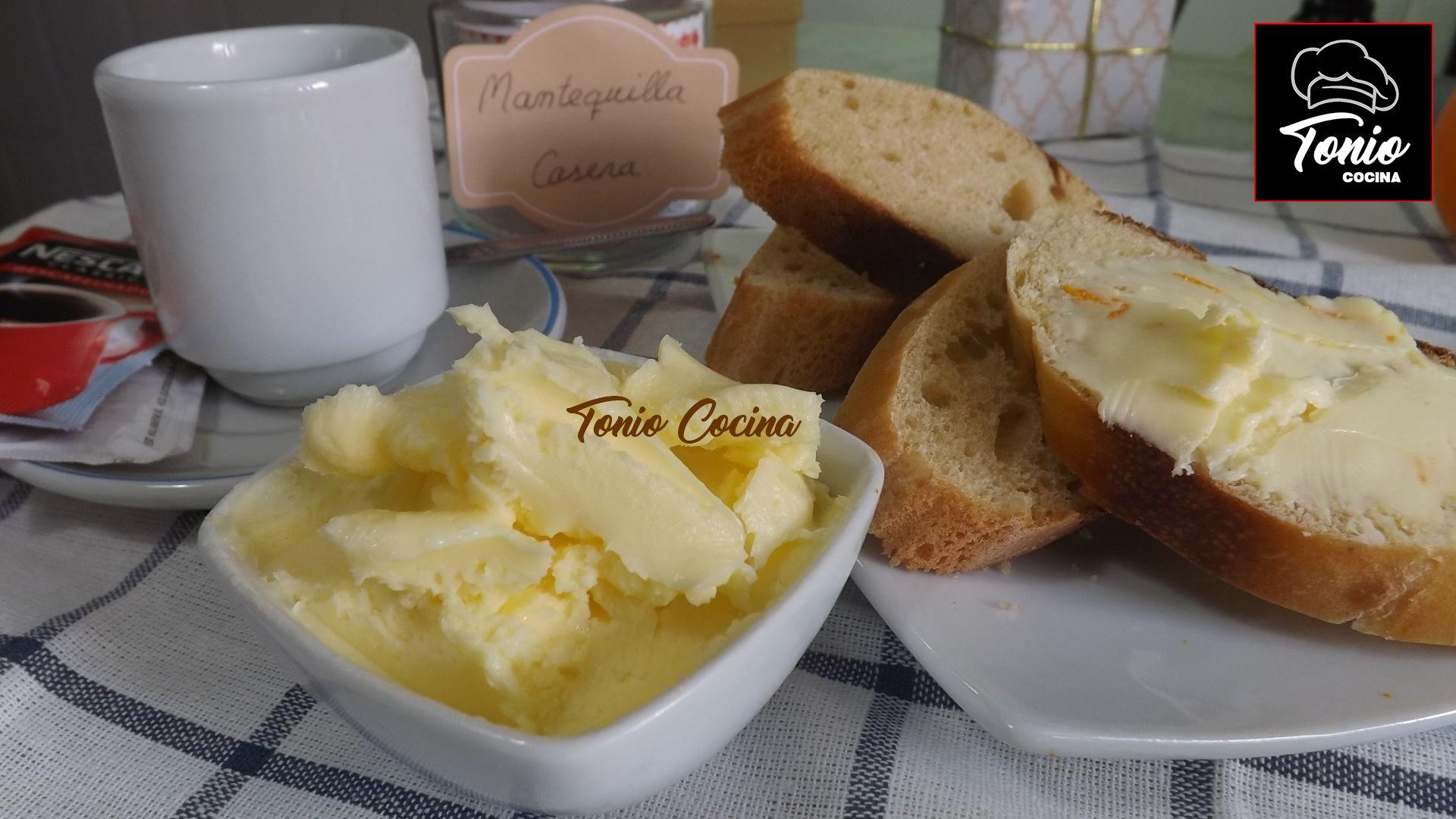 Mantequilla casera, cómo hacerla en 10 minutos