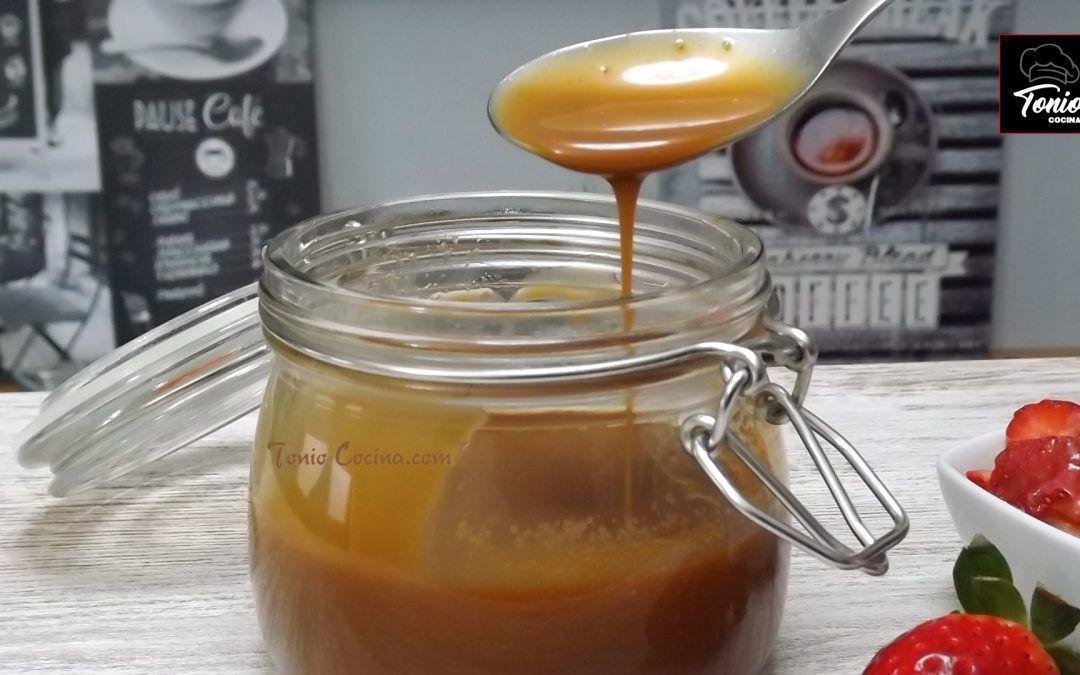 Sirope de caramelo o salsa de toffee