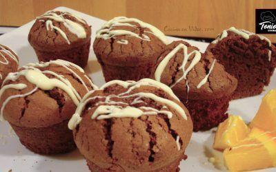 Muffins de almendra y chocolate (sin harina)