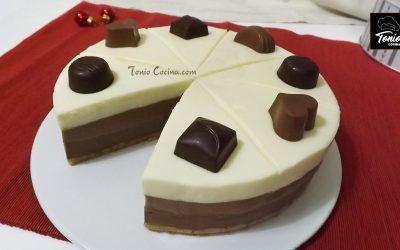 Tarta 3 chocolates sin horno   Receta fácil