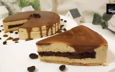 Tarta de galleta con Mousse de café, sin horno