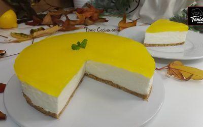 Tarta Mousse de limón (con zumo)