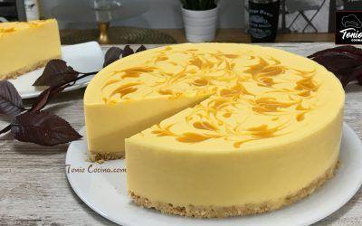 Tarta de queso y Mango | Tarta cheesecake de Mango