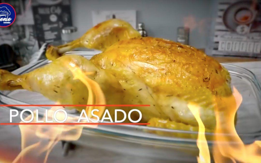 Pollo asado a la naranja