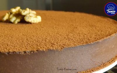 Tarta de chocolate y nueces sin horno