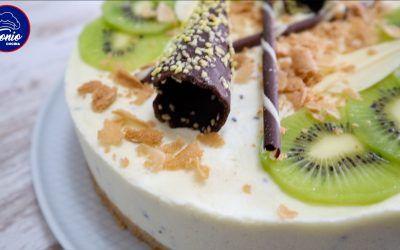 Tarta fría de Kiwi … (o de Melocotón,  de Piña,  de Pera, de Mango, de Plátano)
