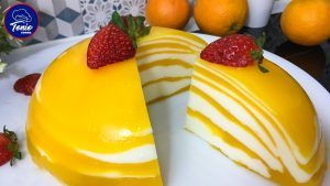 pastel cebra de naranja